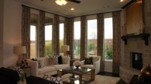 Living area, Aliana Highland Homes model