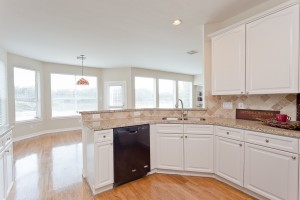 Updated kitchen granite counter tops