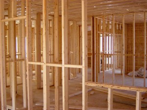 wooden beams in new construction Richmond TX house
