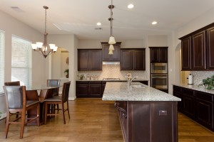 17215 Bland Mills Ln, Richmond Tx 77407-Kitchen coutertops and lights