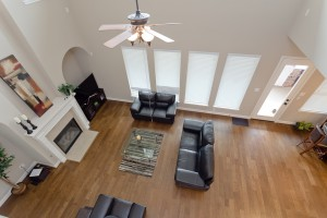 17215 Bland Mills Ln, Richmond Tx 77407-View of living room from 2nd floor