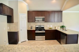 luxurious granite kitchen in fort bend county home for sale